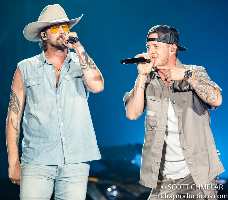 Florida Georgia Line with Dan & Shay, Morgan Wallen and Hardy at the Coastal Credit Union Music Park at Walnut Creek in Raleigh NC July 26, 2019. Photos by Scott Chmelar for INDRA Magazine